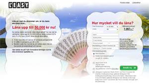 Leasy erbjuder snabba lån direkt på nätet upp till 50,000 kronor.