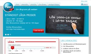 Vippi erbjuder snabba lån över internet.